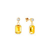 Aros Royal Gold Sunflower - Swarovski joyas