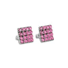 Aros Mesh Studs Light Rose