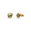 Aros Tiny Bonbon Studs Gold Black Diamond - Swarovski joyas