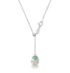 Collar Candy Pendulo Ajustable Luminous Green - Swarovski joyas