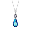 Collar Double Teardrop Bermuda Blue