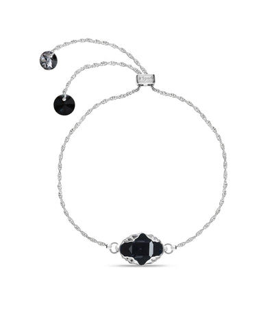 Pulsera Delia Graphite Light Chrome - Swarovski joyas