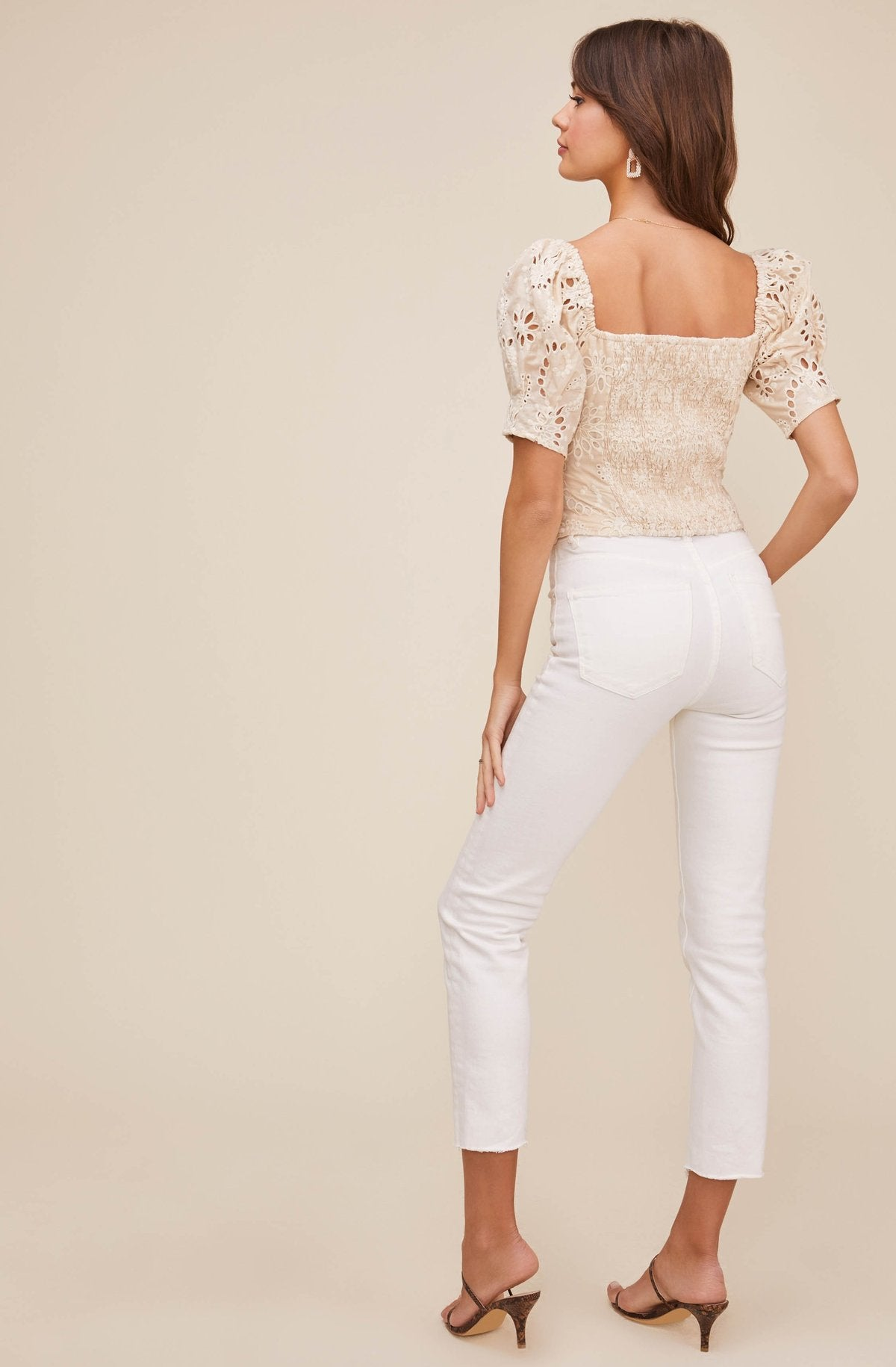 Astr The Label | Bondi Eyelet Top