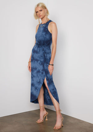 Open image in slideshow, Brett Maxi Dress | Indigo Tie Dye