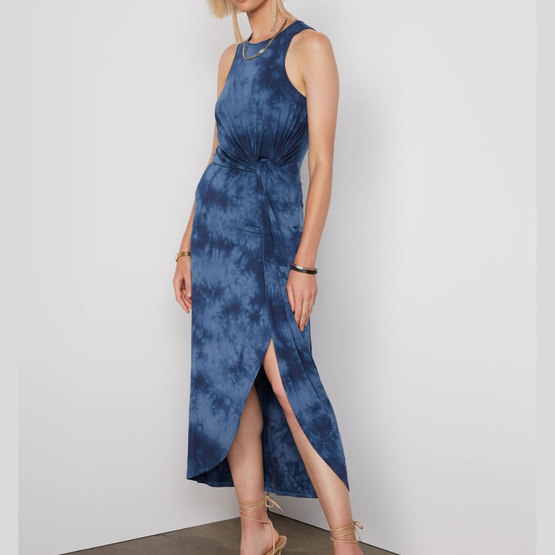 Brett Maxi Dress | Indigo Tie Dye