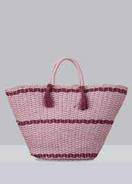 Hat Attack | Straw Pink Soft Wicker Weave Tote