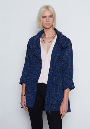 Open image in slideshow, Tart Cory Jacket | Cobalt Leopard