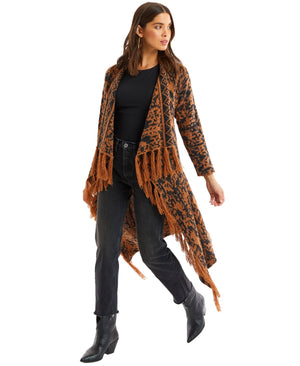 Open image in slideshow, Fringe Drape Cardigan