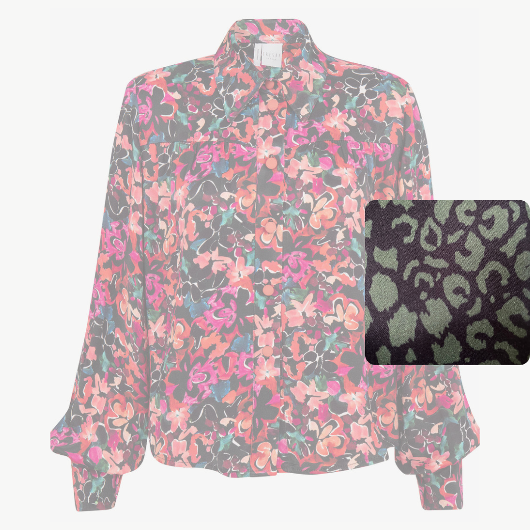 Dixie Blouse | Army Leopard