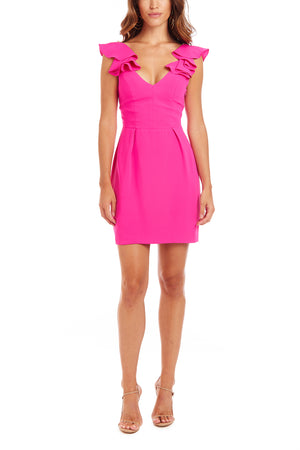 Open image in slideshow, Gimlet Dress Hot Pink