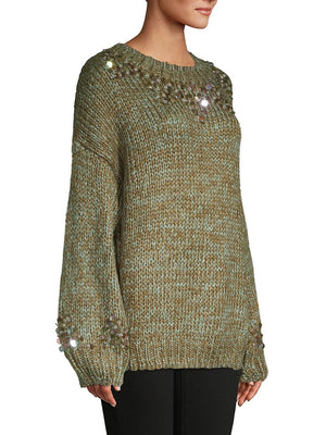 Green Sequin Sweater