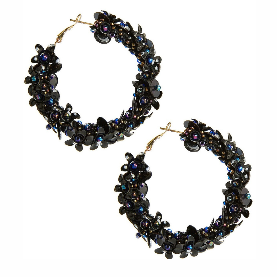 Maisy Hoops | Black