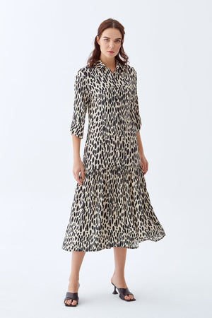 Open image in slideshow, Melanie Dress | Spotted Leopard