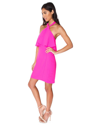 Piazza Mini Dress Hot Pink