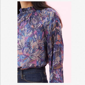 Open image in slideshow, Rebecca Taylor Amethyst Flower Top