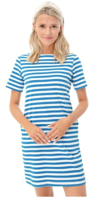Open image in slideshow, Stripe Stella Blue dress