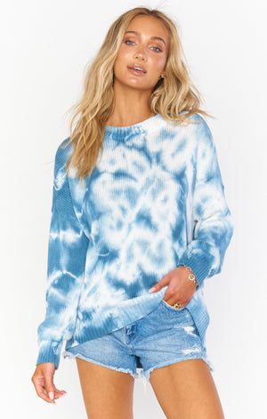 Sunday Sweater | Blue Tie Dye