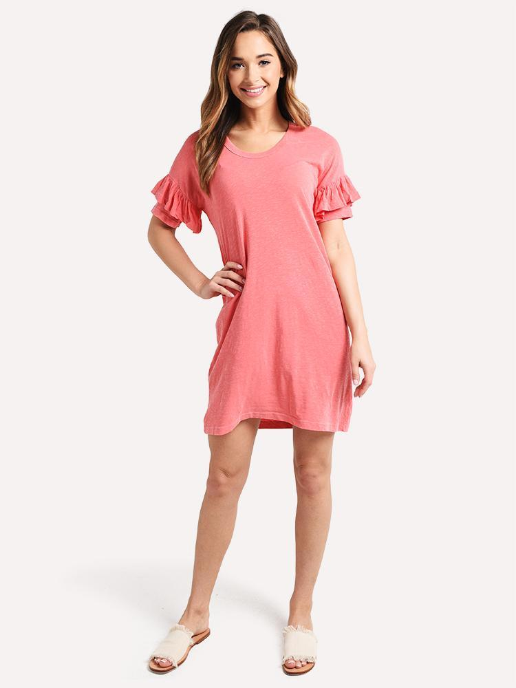Sundry short sleeve ruffle dress