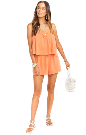 Open image in slideshow, Thelma Romper | Tangerine