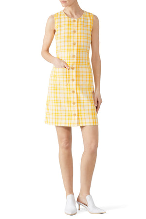 Open image in slideshow, Tory Burch | Jacquard Notch Front Shift Dress