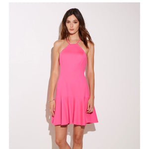 Open image in slideshow, Kiely Dress Pink Lacquer