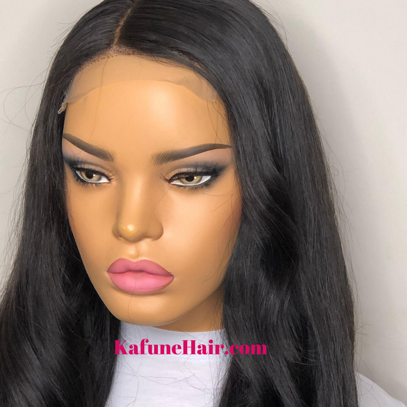 "18"" Closure HD Lace Wig Next Day Shipping Available"