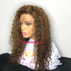 Custom Color Medium brown with high lights Deep Curly Lace Front Wig - Kafuné hair (Growing Upscale Hair LLC)