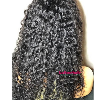 "16"" Deep Curly Full Lace Wig Small Cap Size- Next Day Shipping - Kafuné hair (Growing Upscale Hair LLC)"