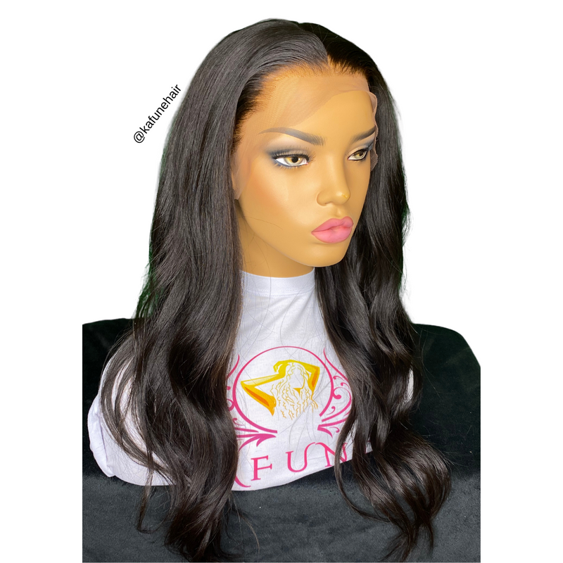 18' Natural Straight Full Lace Wig Medium Cap - Next Day Shipping - Kafuné hair (Growing Upscale Hair LLC)