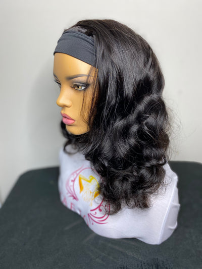 "16"" Body Wave Head Band Wig - Next Day Shipping - Kafuné hair (Growing Upscale Hair LLC)"