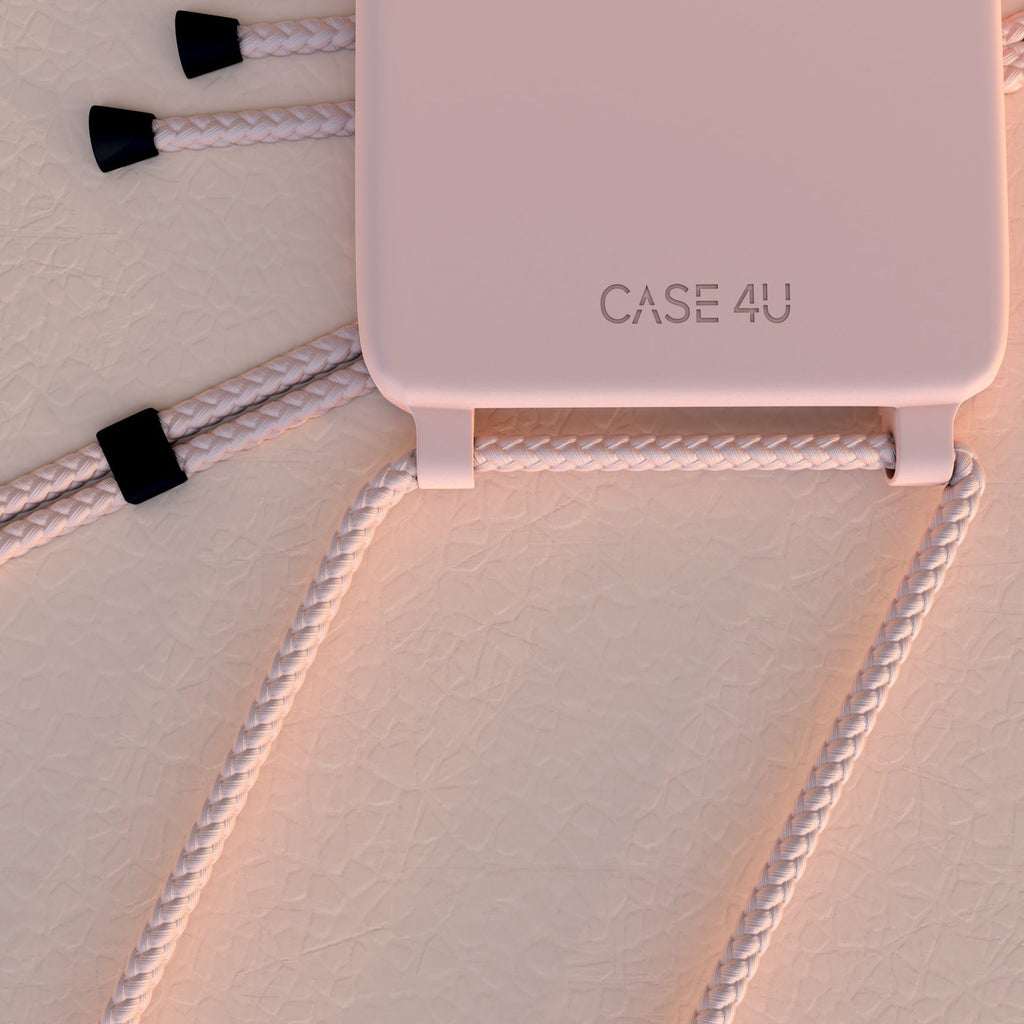 Case Rose nude & corde