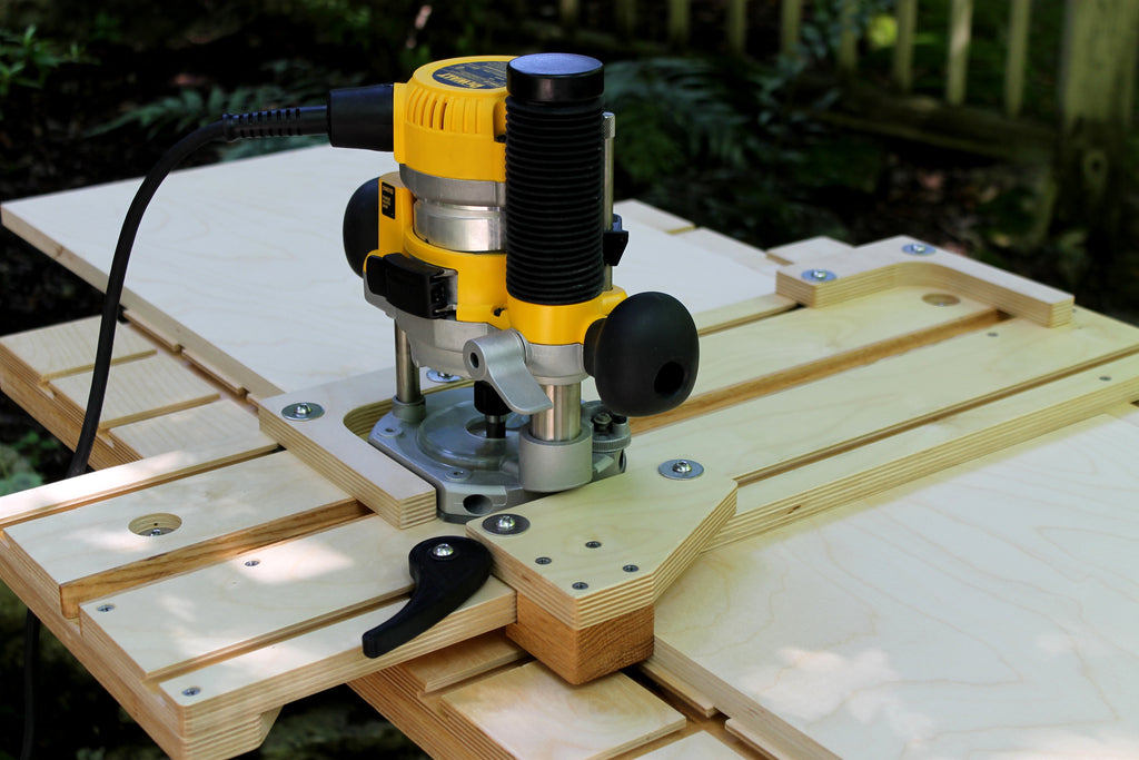 An exact-fit dado jig, built with the WoodAnchor fixturing system