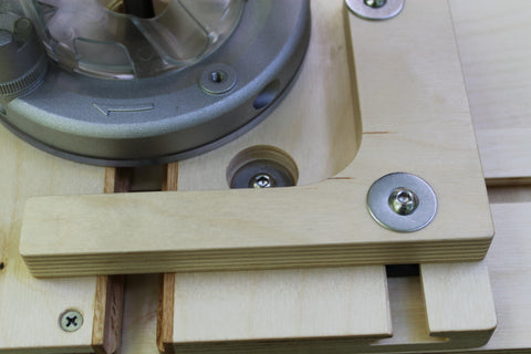 A fully-recessed WoodAnchor fastener, which leaves the working surface free of obstructions