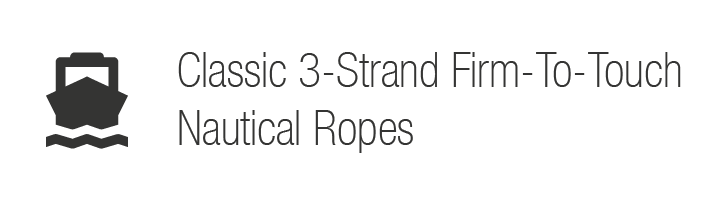 Classic 3-Strand Firm-To-Touch Nautical Ropes