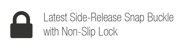 Latest Side-Release Snap Buckle with Non-Slip Lock