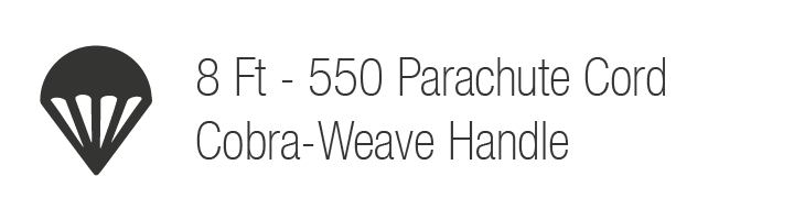 8 Ft - 550 Parachute Cord Cobra-Weave Handle