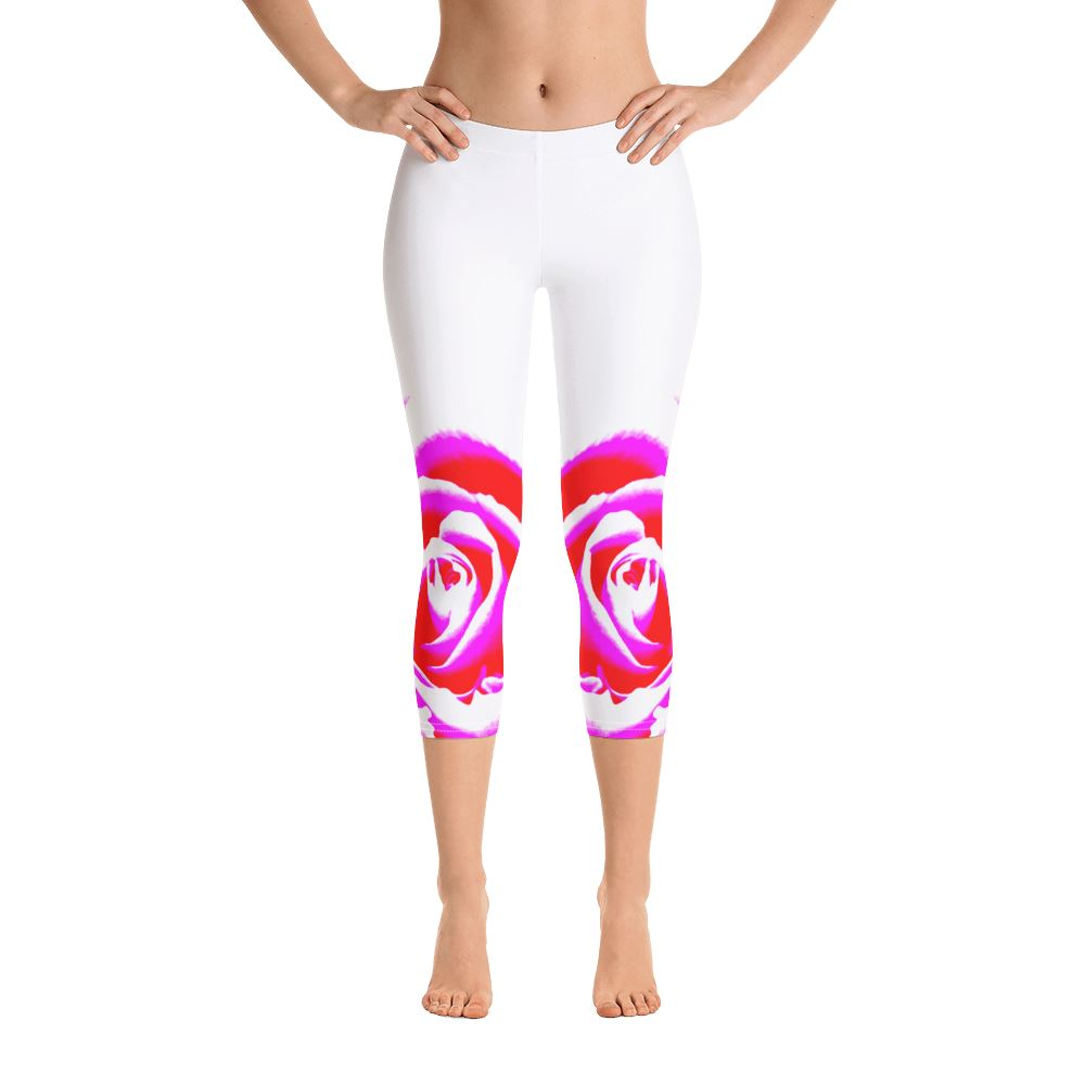 All-Over Print Capri Leggings - For Her Fitness