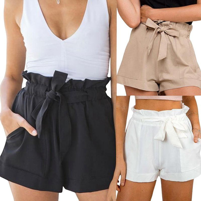 Casual Shorts Beach High Waist Short - For Her Fitness