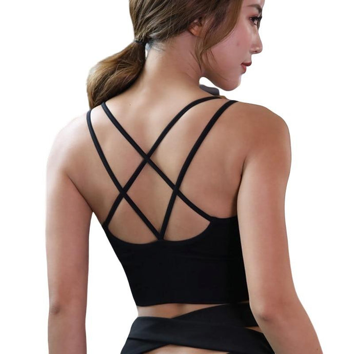 Cross Back Yoga Shirt - For Her Fitness