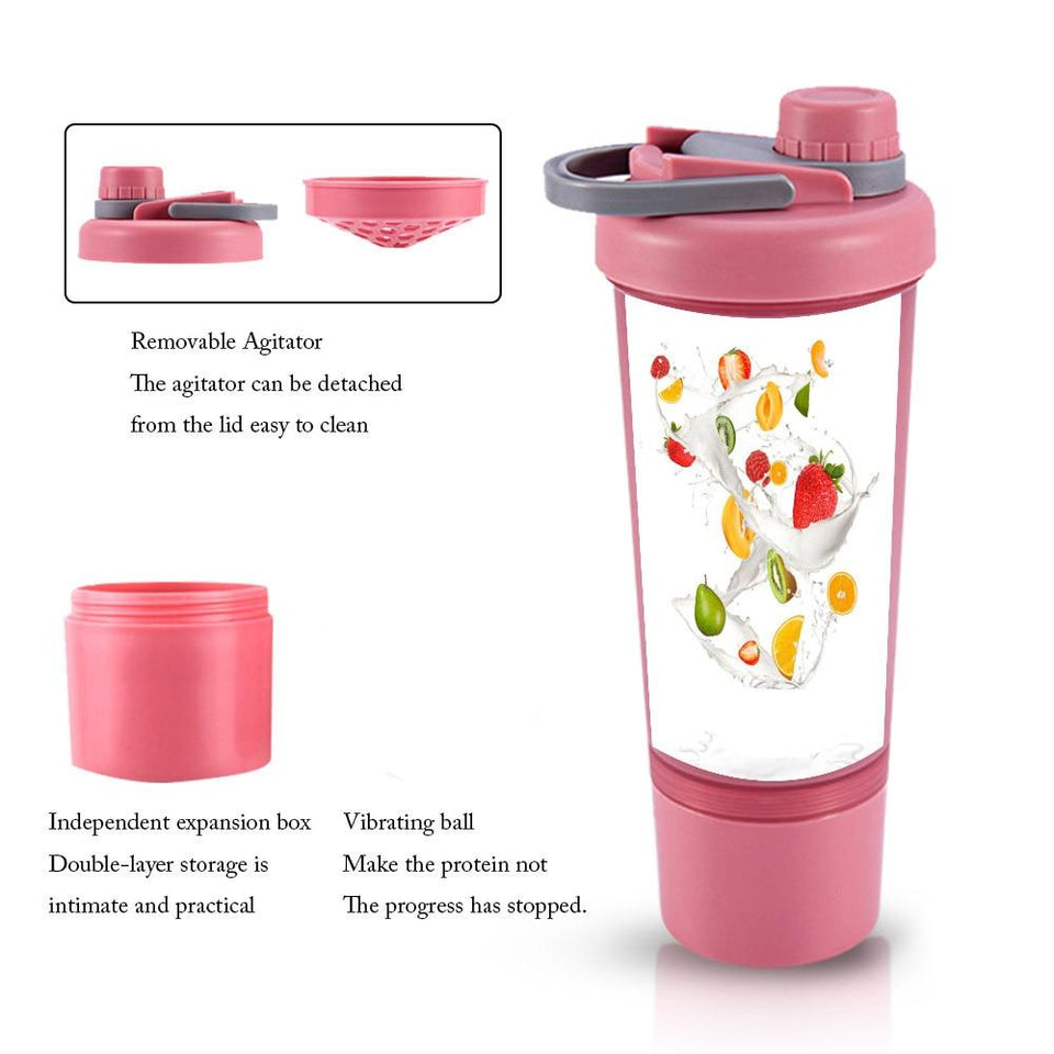 Pre And Post Workout Protein Drink Leak Proof Shaker Bottle - For Her Fitness