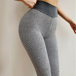 Women's Fashionable High Quality Spandex Honeycomb Workout Leggings - For Her Fitness