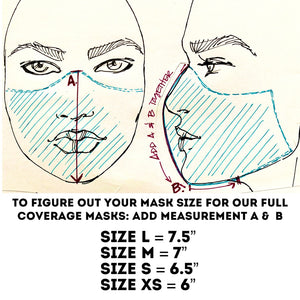 Trippy Hippy - Reversible PPE Made-to-order Couture Face Mask available In Standard Fit w/ Filter Pocket,  4 layer Sleeker Profile, and Children's w/ Filter Pocket