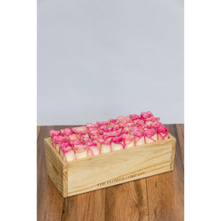 Rustic Wooden Tray- Roses