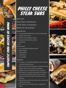 Philly Cheese Steak Subs