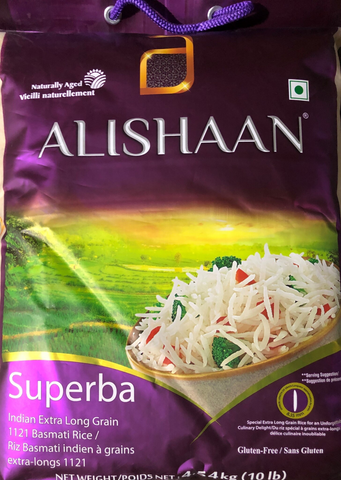 ALISHAN Superba Indian Extra Long Rice 10lb
