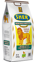 SHER durum whole wheat atta fiber wala 20lbs