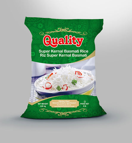 QUALITY Super Kernel Basmati Rice 8 lbs