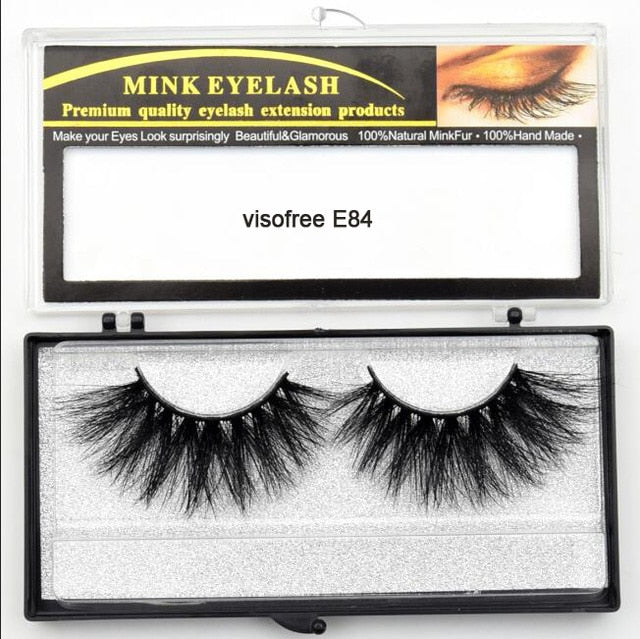 Visofree Eyelashes Mink Eyelashes Criss-cross Strands Cruelty Free 3D 25mm Lashes Mink Lashes Soft Dramatic Eyelashes E80 Makeup