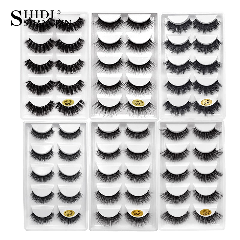 YSDO Lashes 1 box mink eyelashes natural long 3d mink lashes hand made false lashes plastic cotton stalk makeup false eyelash G8
