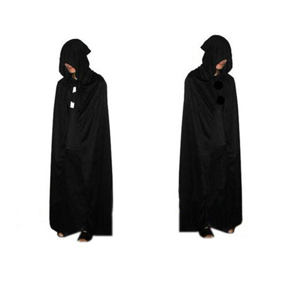 1pc Halloween God of Death Cloak Hooded Cape Witch Adult Devil Robe Floor Length Cosplay Party Supplies Wholesale
